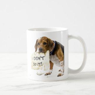 Funny Bad Dog Puppy I Didn't Do It Coffee Mug
