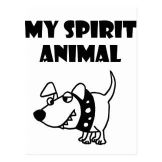 Funny Bad Dog Spirit Animal Cartoon Postcard