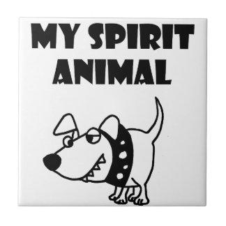 Funny Bad Dog Spirit Animal Cartoon Tile