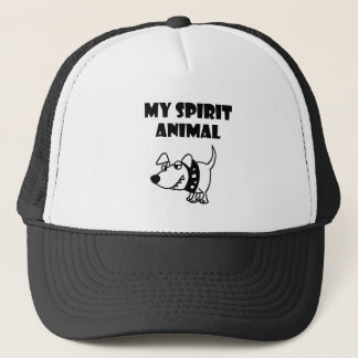 Funny Bad Dog Spirit Animal Cartoon Trucker Hat