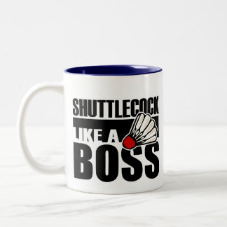 Funny Badminton Shuttlecock Two-Tone Coffee Mug
