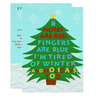 Funny Bah Humbug After Christmas Holiday Party Card