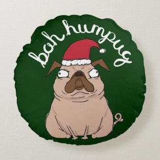 Funny Bah Humpug Santa Pug Christmas Pillow