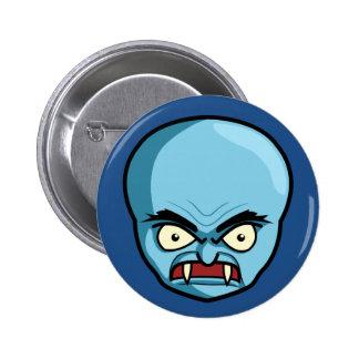 Funny Bald Blue Demon 2 Inch Round Button