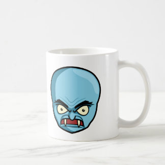 Funny Bald Blue Demon Coffee Mug