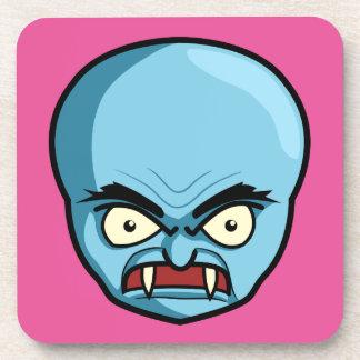Funny Bald Blue Demon Drink Coaster