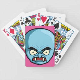 Funny Bald Blue Demon Poker Deck