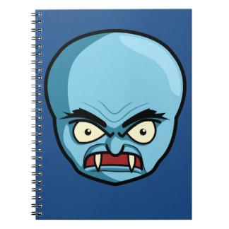 Funny Bald Blue Demon Spiral Notebook