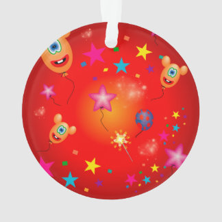 Funny balloons and stars