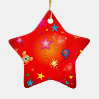 Funny balloons and stars christmas ornament