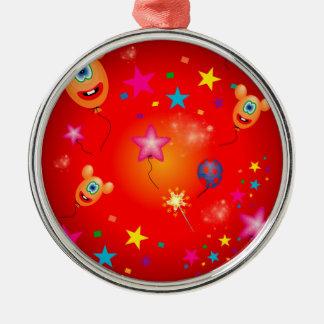 Funny balloons and stars christmas tree ornaments
