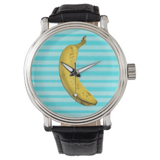 Funny banana wristwatches