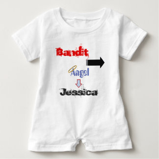 """Funny """"Bandit"""" Baby Romper for Twins"""