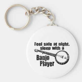 Funny Banjo Basic Round Button Keychain