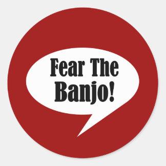 Funny Banjo Quote Classic Round Sticker