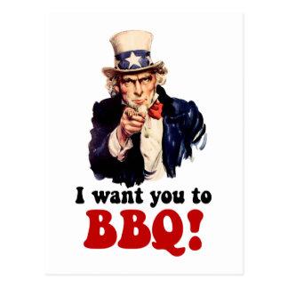 Funny barbecue postcard