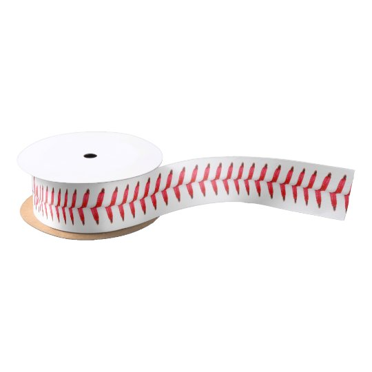 Funny Baseball Stitching Sports Themed Satin Ribbon