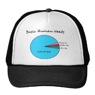 Funny Basic Human Needs 90 Internet Trucker Hats