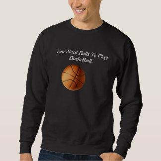Funny Basketball Balls Logo, Sweatshirt