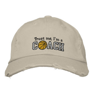 Funny Basketball Coach Embroidered Hats