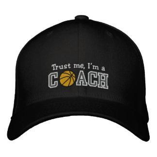 Funny Basketball Coach Baseball Cap