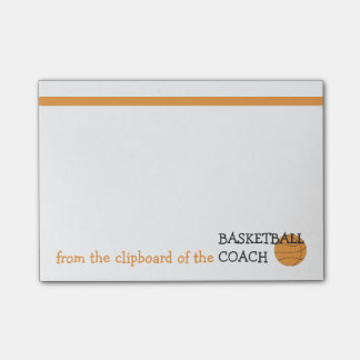 Funny Basketball Coach Post It® Notes Clipboard of