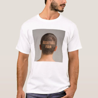Funny Basketball Fan T-Shirt Haircut Shaved Head