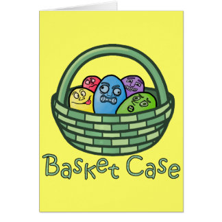 Funny Basketcase Easter Card