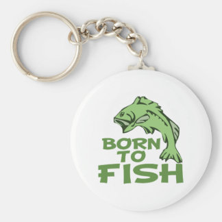Funny Bass Fising Basic Round Button Keychain