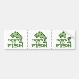 Funny Bass Fising Bumper Sticker