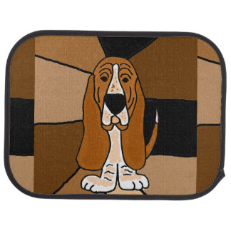 Funny Basset Hound Dog Art Car Mat