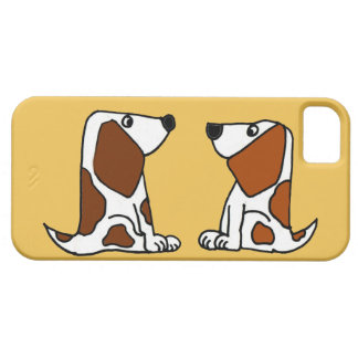 Funny Basset Hound Puppy Dogs Cartoon iPhone 5 Case