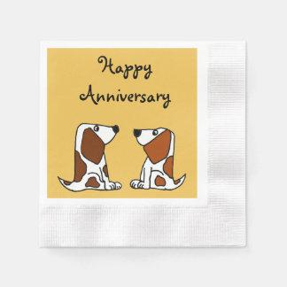 Funny Basset Hound Puppy Dogs Paper Napkin