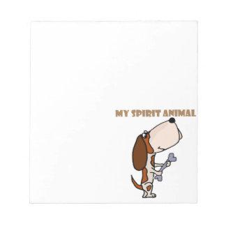 Funny Basset Hound Spirit Animal Notepad