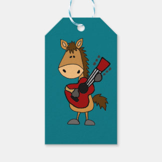 Funny Bay Horse Playing Guitar Art Pack Of Gift Tags