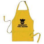 Funny BBQ apron for men | Respect the beard