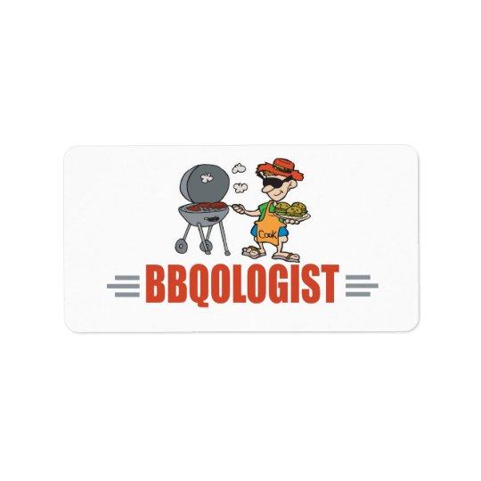Funny BBQ Label