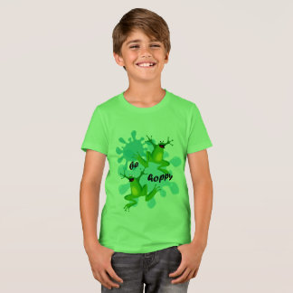 Funny Be Hoppy Frogs Kids T-shirt