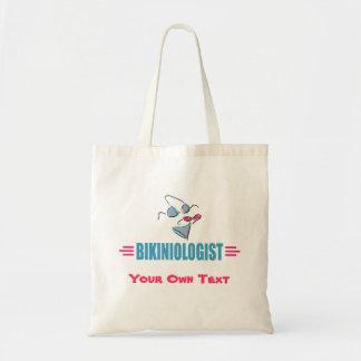 Funny Beach Bikini Budget Tote Bag