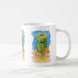 Funny beach cactus desert bring your own water coffee mug