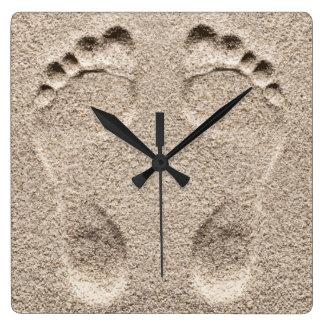 Funny Beach Theme Square Wall Clock