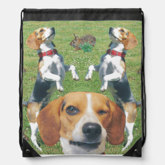 Funny Beagle Winking Rabbits & Beagles Backpack