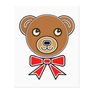 Funny bear face canvas print