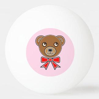 Funny bear face ping pong ball