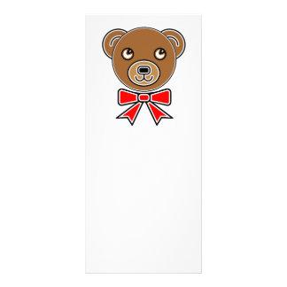 Funny bear face rack card
