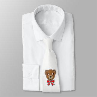 Funny bear face tie