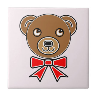 Funny bear face tile