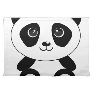 Funny bear panda bear panda animals placemat