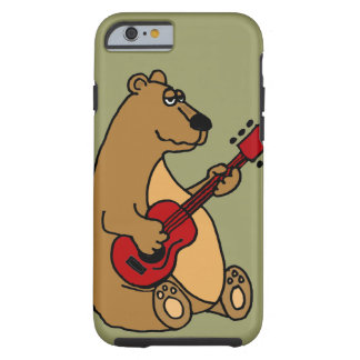 Funny Bear Playing Guitar iPhone 6 case Tough iPhone 6 Case