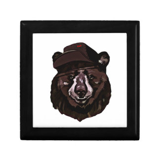 Funny Bear with Hat Jewelry Box